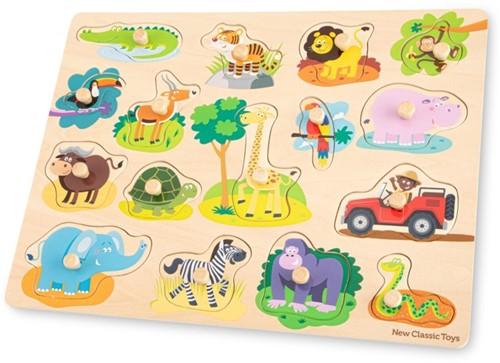 New Classic Toys - Houten Puzzel Safari (16 stukjes)