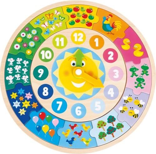 New Classic Toys - Puzzelklok (30x30x1 cm)