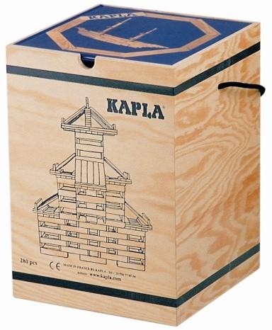Kapla: 280 stuks in kist met boek (Licht beschadigd)
