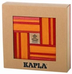 Kapla: 40 stuks kleur met boekje rood/oranje