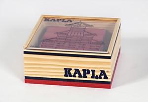 Kapla: 40 stuks in kist rood