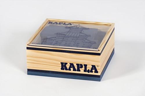 Kapla: 40 stuks in kist donkerblauw