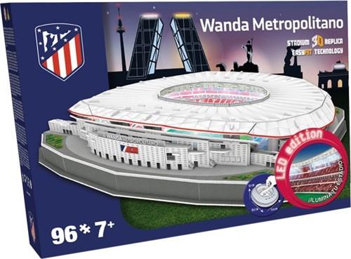 Atletico Madrid - Wanda Metropolitano 3D Puzzel LED (96 stukjes)