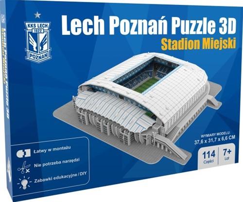 Lech Poznan - Stadion Miejski 3D Puzzel (114 stukjes)