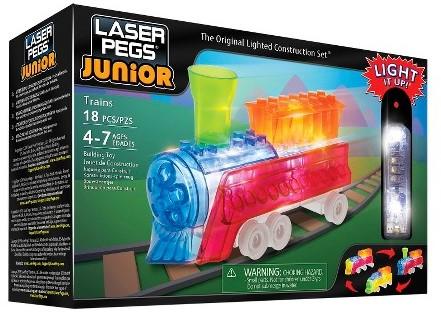 Laser Pegs Junior - 3 in 1 Trains