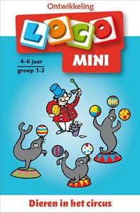 Mini loco dieren in het circus.