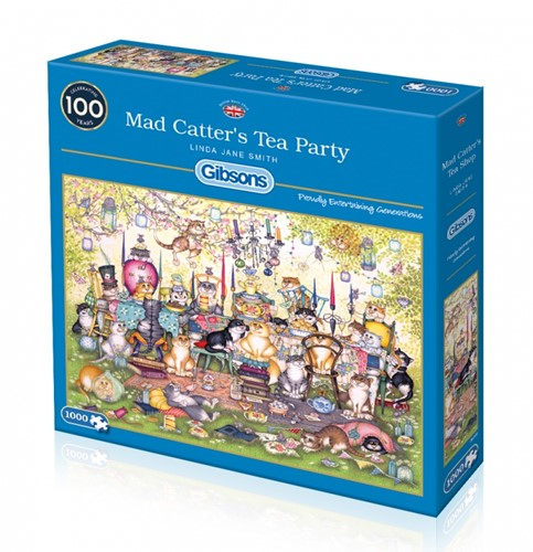 Mad Catter's Tea Party Puzzel (1000 stukjes)