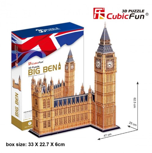 CubicFun 3D Puzzel - Big Ben (117 stukjes)