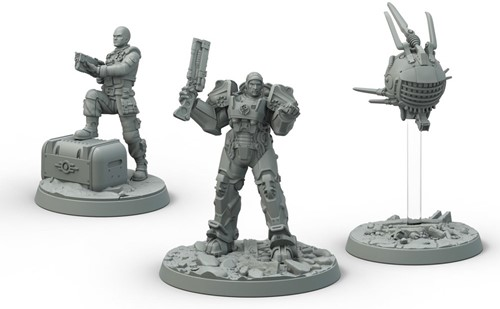 Fallout Wasteland Warfare - Brotherhood of Steel Captain Cade and Paladin Danse-2