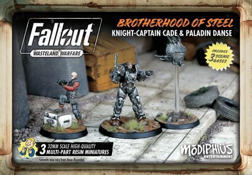 Fallout Wasteland Warfare - Brotherhood of Steel Captain Cade and Paladin Danse