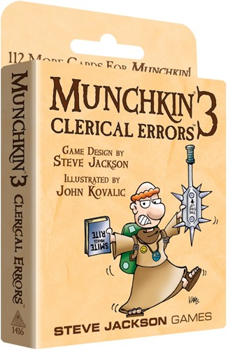 Munchkin Expansion 3 Clerical Errors