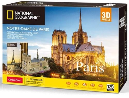3D Puzzel - Notre-Dame de Paris (128 stukjes)