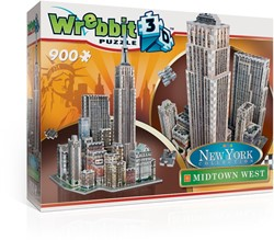 Wrebbit 3D Puzzel - New York Midtown West (900 stukjes)