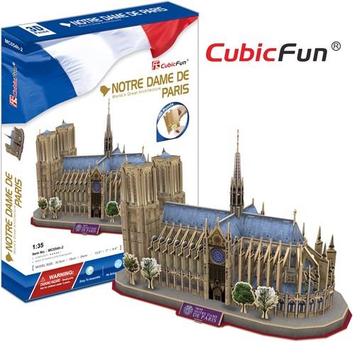 3D Puzzel - Notre Dame (128 stukjes)-1