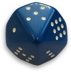 10-zijdige Dobbelsteen Opaque Blauw
