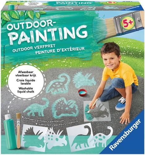 Outdoor Painting - Vloeibaar krijt - Dinosaurus