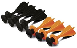 SureShot Sucker Darts Zwart / Oranje - 25 stuks