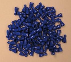 Plastic Spel Pionnen 12x24mm Blauw (100 stuks)