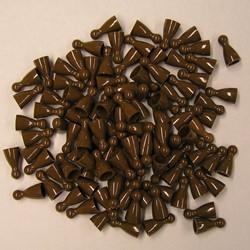 Plastic Spel Pionnen 12x24mm Bruin (100 stuks)