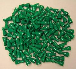Plastic Spel Pionnen 12x24mm Groen (25 stuks)
