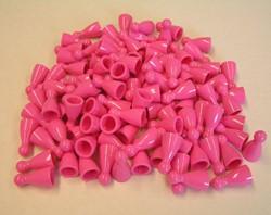 Plastic Spel Pionnen 12x24mm Roze (100 stuks)