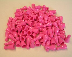 Plastic Spel Pionnen 12x24mm Roze (25 stuks)