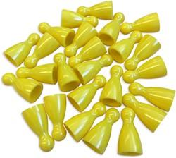 Plastic Spel Pionnen 12x24mm Geel (25 stuks)