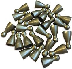 Plastic Spel Pionnen 12x24mm Goud (100 stuks)
