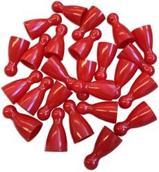 Plastic Spel Pionnen 12x24mm Rood (25 stuks)