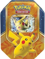 Pokemon TCG Fall Tin Battle Heart Pikachu-EX