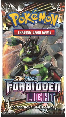 Pokémon Sun & Moon Forbidden Light boosterpack