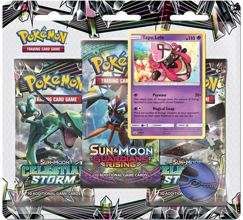 Pokemon Sun & Moon Celestial Storm Boosterblister