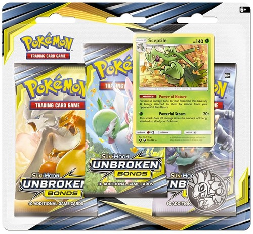 Pokemon Sun & Moon - Unbroken Bonds Boosterblister