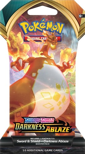 Pokemon Sword & Shield Darkness Ablaze Sleeved Boosterpack