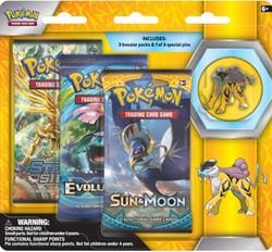 Pokemon - Collectors Pin 3 Pack - Legendary Beasts - Raikou