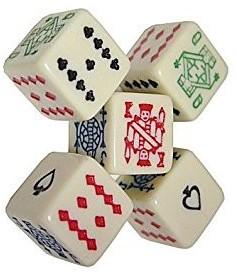 Poker Dobbelstenen (5 stuks)