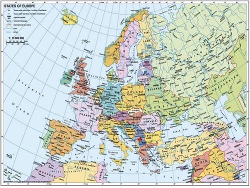 Kaart Van Europa Puzzel (Doos licht beschadigd)