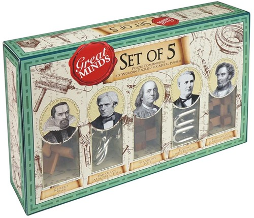 Great Minds - Set of 5 Puzzel