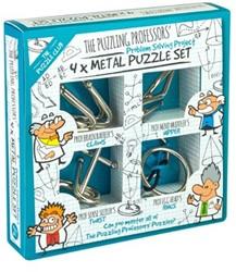 Puzzling Professors Metal Puzzle Set 4x