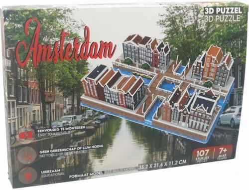 3D Puzzel - Amsterdamse huisjes (107 stukjes)