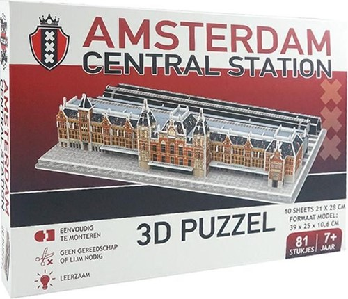 Amsterdam Centraal Station 3D Puzzel (81 stukjes)