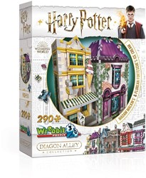 Wrebbit 3D Puzzel - Harry Potter Madam Malkin's & Florean Fortescue's Ice Cream