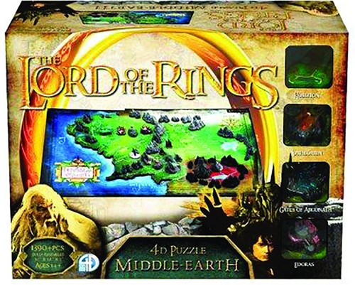 4D Cityscape - The Lord of the Rings Middle Earth 4D Puzzel