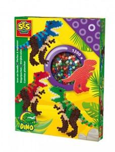 Ses strijkkralenset dinosaurus