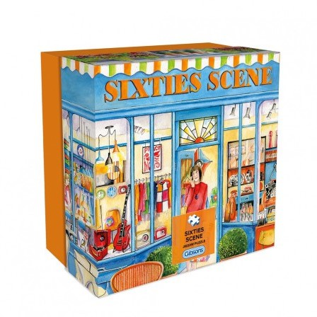 Sixties Scene Puzzel - Gift Box (500 stukjes)