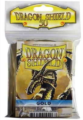 Dragon Shield Sleeves - Standaard Goud (66x92 mm)