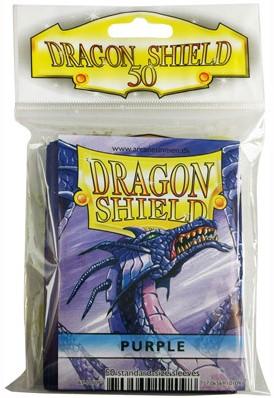 Dragon Shield Sleeves - Standard - Paars (66x92 mm)