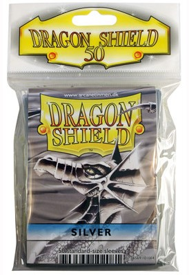 Dragon Shield Sleeves - Standaard Zilver (63x88 mm)