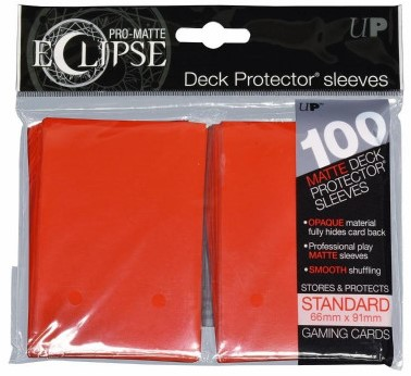 Sleeves Eclipse Rood (66x91 mm)