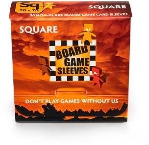 Sleeves Non Glare Board Game- Square (69x69 mm)